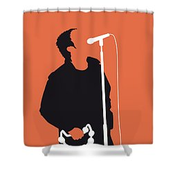 No023 My Oasis Minimal Music Poster Shower Curtain
