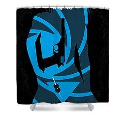 No024 My Dr No James Bond Minimal Movie Poster Shower Curtain by Chungkong Art