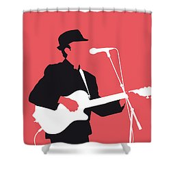 No042 My Leonard Cohen Minimal Music Shower Curtain