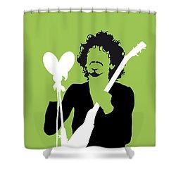 No046 My Santana Minimal Music Poster Shower Curtain
