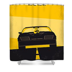 No051 My Mad Max Minimal Movie Poster Shower Curtain