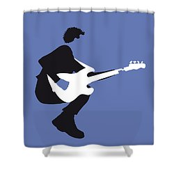 No058 My The Police Minimal Music Poster Shower Curtain by Chungkong Art