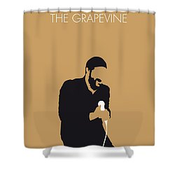 No060 My Marvin Gaye Minimal Music Poster Shower Curtain
