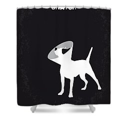 No079 My Snatch Minimal Movie Poster Shower Curtain by Chungkong Art