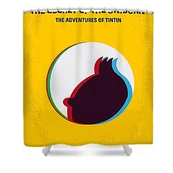 No096 My Tintin-3d Minimal Movie Poster Shower Curtain