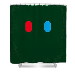 No117 My Matrix Minimal Movie Poster Shower Curtain by Chungkong Art