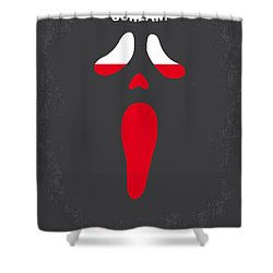 No121 My Scream Minimal Movie Poster Shower Curtain