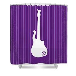 No124 My Purple Rain Minimal Movie Poster Shower Curtain by Chungkong Art