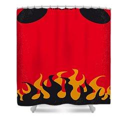 No131 My Hellboy Minimal Movie Poster Shower Curtain by Chungkong Art