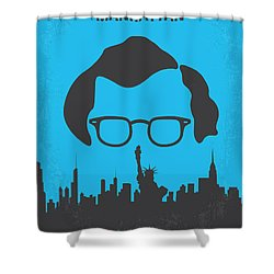 No146 My Manhattan Minimal Movie Poster Shower Curtain by Chungkong Art