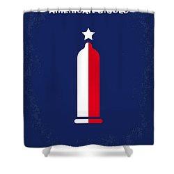 No150 My American Gigolo Minimal Movie Poster Shower Curtain