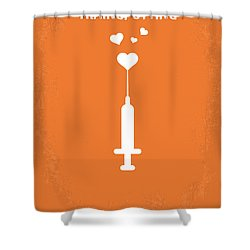 No152 My Trainspotting Minimal Movie Poster Shower Curtain by Chungkong Art