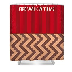 No169 My Fire Walk With Me Minimal Movie Poster Shower Curtain by Chungkong Art