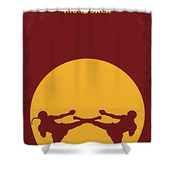 No178 My Kickboxer Minimal Movie Poster Shower Curtain by Chungkong Art
