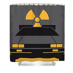 No183 My Back To The Future Minimal Movie Poster Shower Curtain