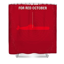 No198 My The Hunt For Red October Minimal Movie Poster Shower Curtain by Chungkong Art