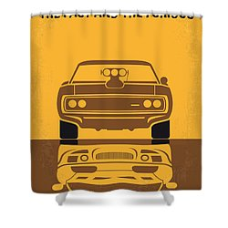 No207 My The Fast And The Furious Minimal Movie Poster Shower Curtain by Chungkong Art