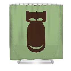 No212 My The Dictator Minimal Movie Poster Shower Curtain by Chungkong Art
