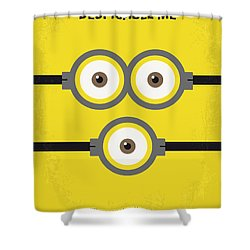 No213 My Despicable Me Minimal Movie Poster Shower Curtain by Chungkong Art
