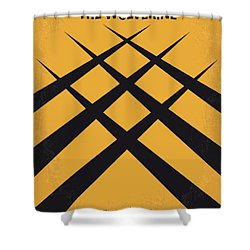 No222 My Wolverine Minimal Movie Poster Shower Curtain by Chungkong Art
