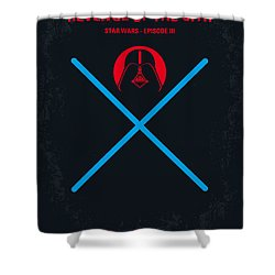 No225 My Star Wars Episode IIi Revenge Of The Sith Minimal Movie Poster Shower Curtain