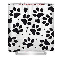 No229 My 101 Dalmatians Minimal Movie Poster Shower Curtain