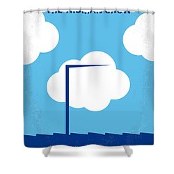 No234 My Truman Show Minimal Movie Poster Shower Curtain by Chungkong Art
