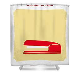 No255 My Office Space Minimal Movie Poster Shower Curtain
