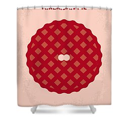 No262 My American Pie Minimal Movie Poster Shower Curtain by Chungkong Art