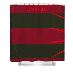 No265 My Nightmare On Elmstreet Minimal Movie Poster Shower Curtain by Chungkong Art