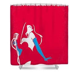 No271 My Roger Rabbit Minimal Movie Poster Shower Curtain