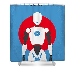 No275 My I Robot Minimal Movie Poster Shower Curtain by Chungkong Art