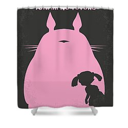 a55db3ff28c39 No290 My My Neighbor Totoro Minimal Movie Poster Shower Curtain