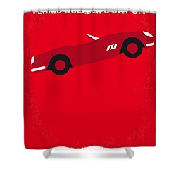 No292 My Ferris Bueller's Day Off Minimal Movie Poster Shower Curtain