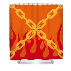 No296 My Ghost Rider Minimal Movie Poster Shower Curtain by Chungkong Art