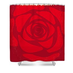 No313 My American Beauty Minimal Movie Poster Shower Curtain by Chungkong Art