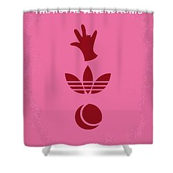 No320 My The Royal Tenenbaums Minimal Movie Poster Shower Curtain