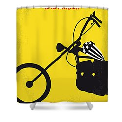 No333 My Easy Rider Minimal Movie Poster Shower Curtain by Chungkong Art