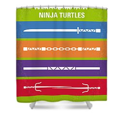 No346 My Teenage Mutant Ninja Turtles Minimal Movie Poster Shower Curtain