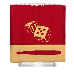 No348 My Casino Minimal Movie Poster Shower Curtain