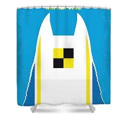 No351 My Miami Vice Minimal Movie Poster Shower Curtain by Chungkong Art
