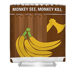 No356 My Serial Ape-ist Minimal Movie Poster Shower Curtain