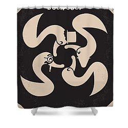 No370 My Duck Soup Minimal Movie Poster Shower Curtain