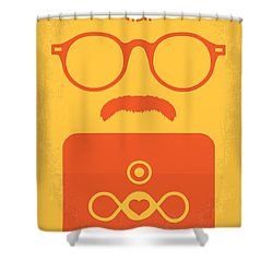No372 My Her Minimal Movie Poster Shower Curtain by Chungkong Art