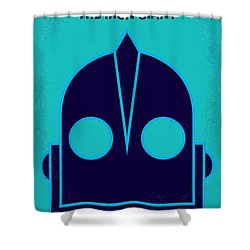 No406 My The Iron Giant Minimal Movie Poster Shower Curtain
