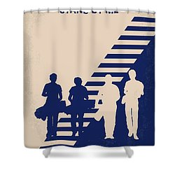 No429 My Stand By Me Minimal Movie Poster Shower Curtain by Chungkong Art