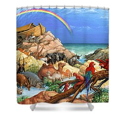 Noah And The Ark Shower Curtain