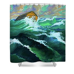 Noah's Ark Shower Curtain by Karon Melillo DeVega