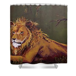 Noble Guardian - Lion Shower Curtain