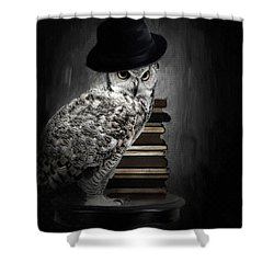 Noble One Shower Curtain by Lourry Legarde